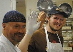 happy kitchen staff