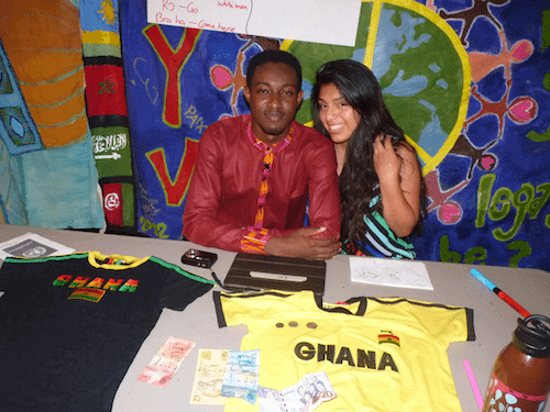 Ruby, with Kofi, from Ghana